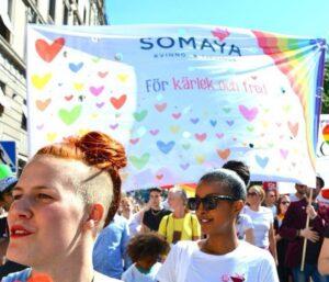 Somaya i prideparaden